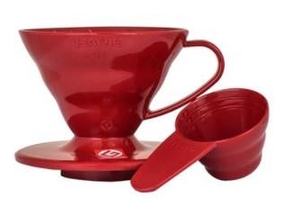 Hario plastový Dripper V60-01 červený
