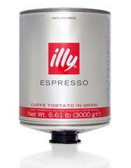 Illy Espresso zrnková káva v plechovce 3 kg