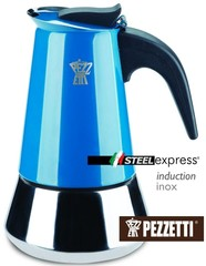 Moka konvice Pezzetti SteelExpress 10 šálků modrá