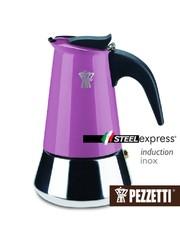 Moka konvice Pezzetti SteelExpress 4 šálky fialová
