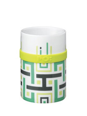 PO: porcelánový hrnek Green geometric 200 ml
