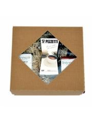 Dárkový set moka konvice Pezzetti Ital 6 plus 2x mletá káva