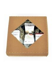 Dárkový set moka konvice Pezzetti Ital 6 černá plus 2x mletá káva