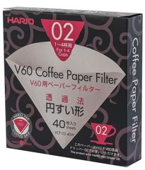 Hario papírové filtry pro V60-02 40 ks