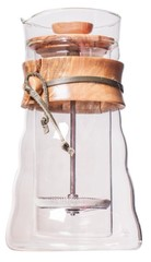 Hario french press 600 ml - dvojité sklo, oliv.dřevo