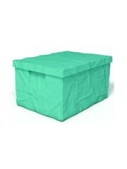 Surplus plastový box s víkem 223 x 400 x 300 mm, tyrkysová