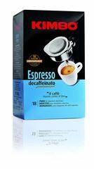 Kimbo Espresso Decaffeinato 18 ESE pody