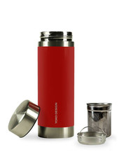 Yoko Design termoska se sítky na louhování čaje 350ml, červená