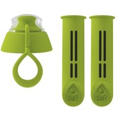 Dafi náhradní filtr 2 ks + víčko pro filtrační láhev zelené
