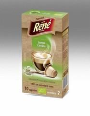 René Lungo Carrara BIO – kompost.kapsle pro Nespresso, 10 ks