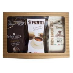 Dárkový set moka konvice Pezzetti Ital 6 + 2 x mletá káva
