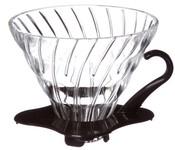Hario dripper V60-01 skleněný černý